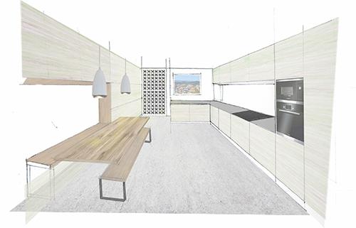 boceto-cocina-vivienda-sonada-arqytech